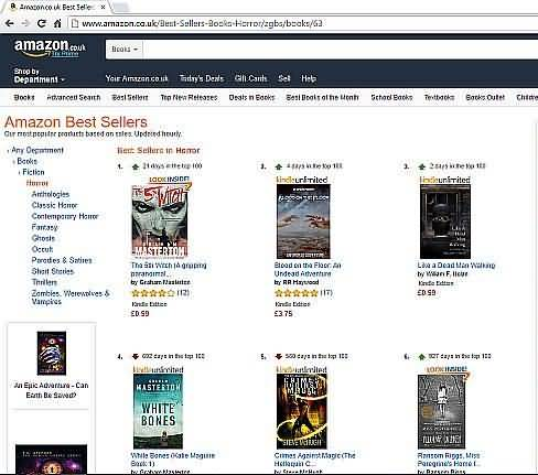 The 5th Witch ebook - screenshot no. in Amazon horror bestsellers