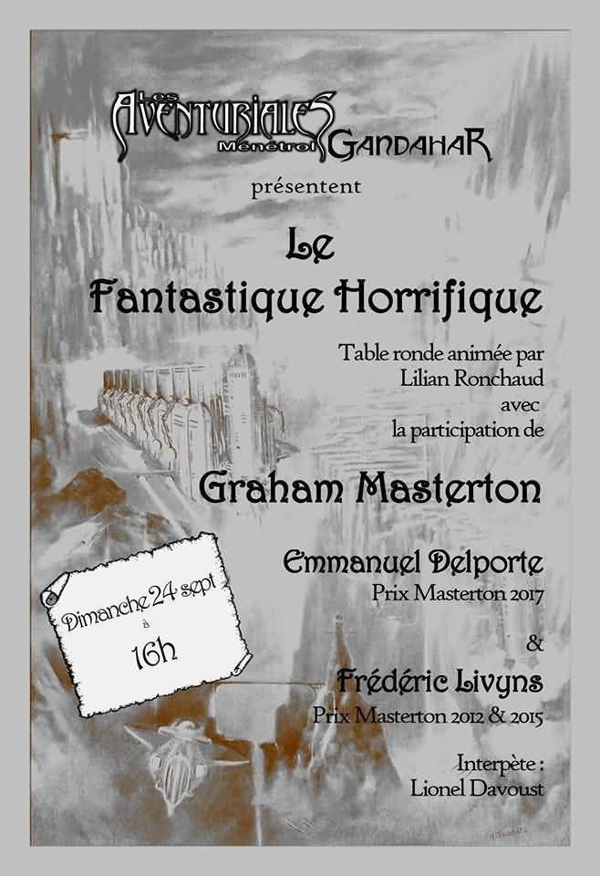 French fantasy convention poster, Sept 2017