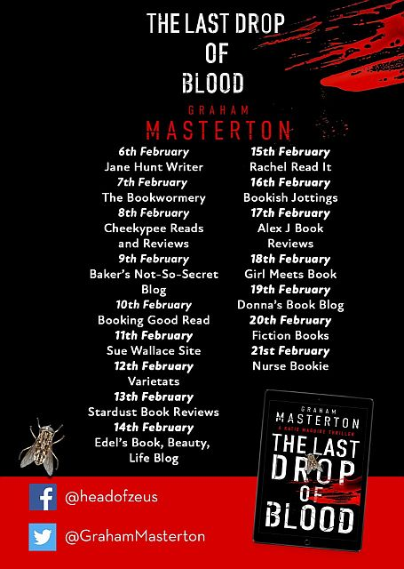 The Last Drop of Blood blog tour schedule