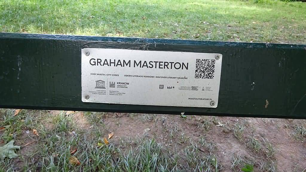 Graham masterton the official site news masterton park bench qr basilisk fandeluxe Choice Image